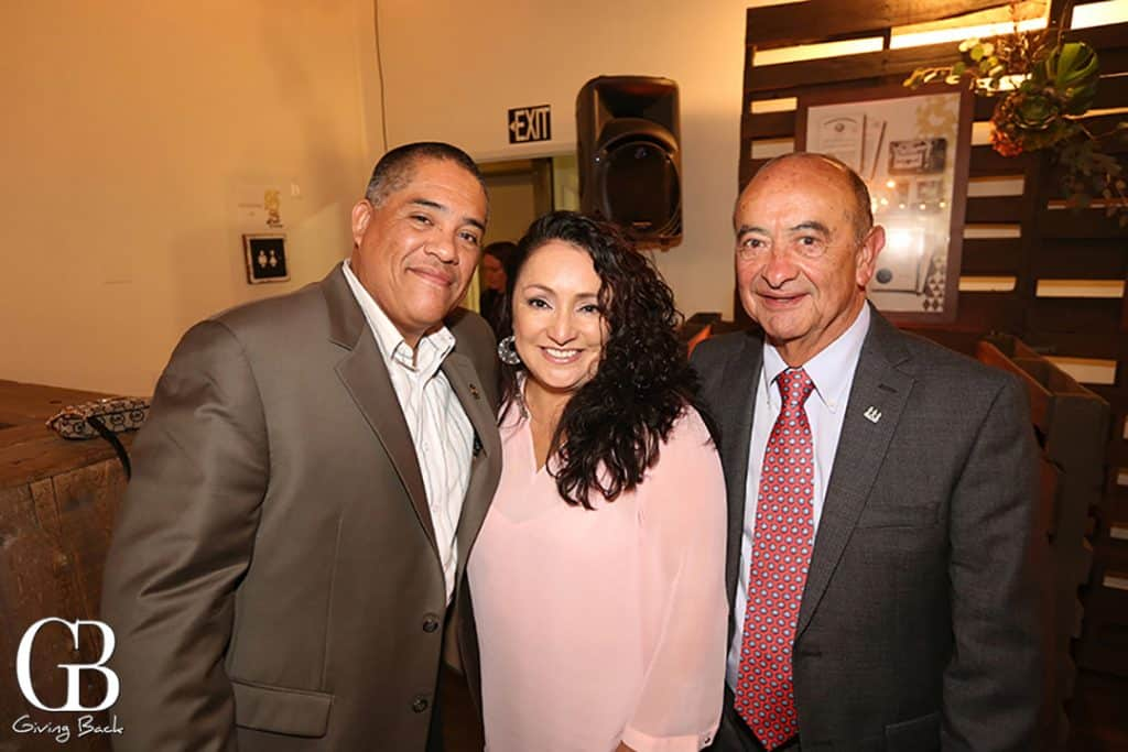 Frank and Angelica Munoz with Roger Casares