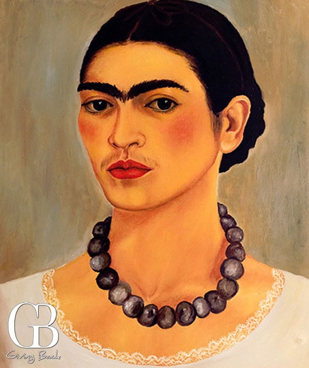 Frida Kahlo Self portrait with Necklace