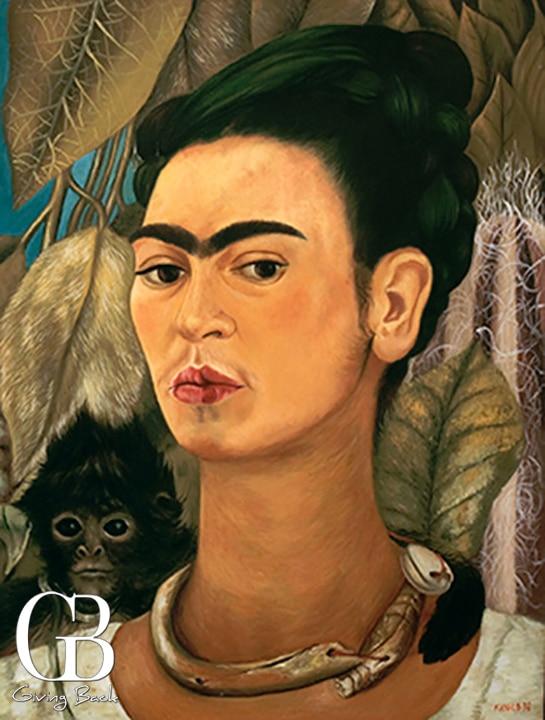 Frida Kahlo Self portrait with a Monkey