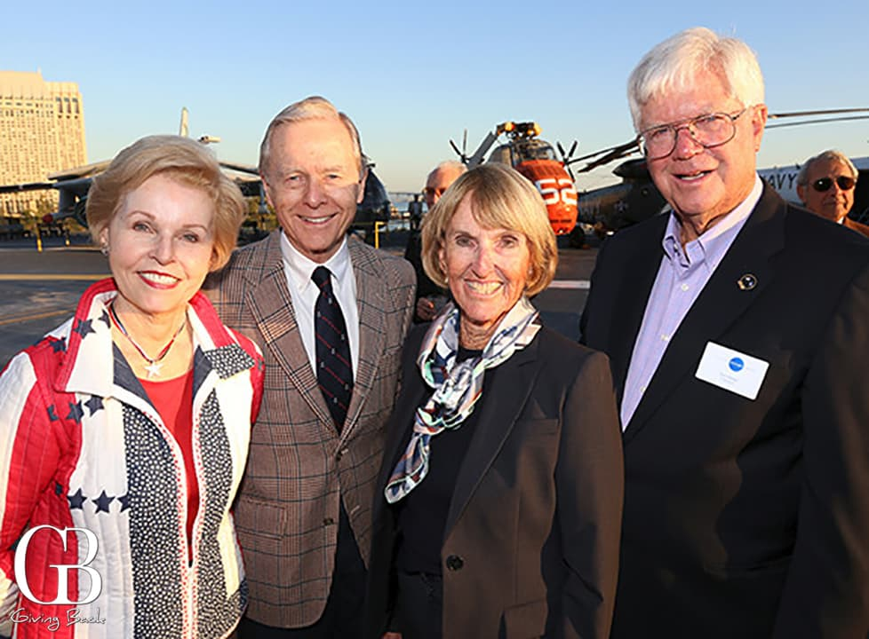 Gayle and Pete Wilson with Jane and Tom Fetter