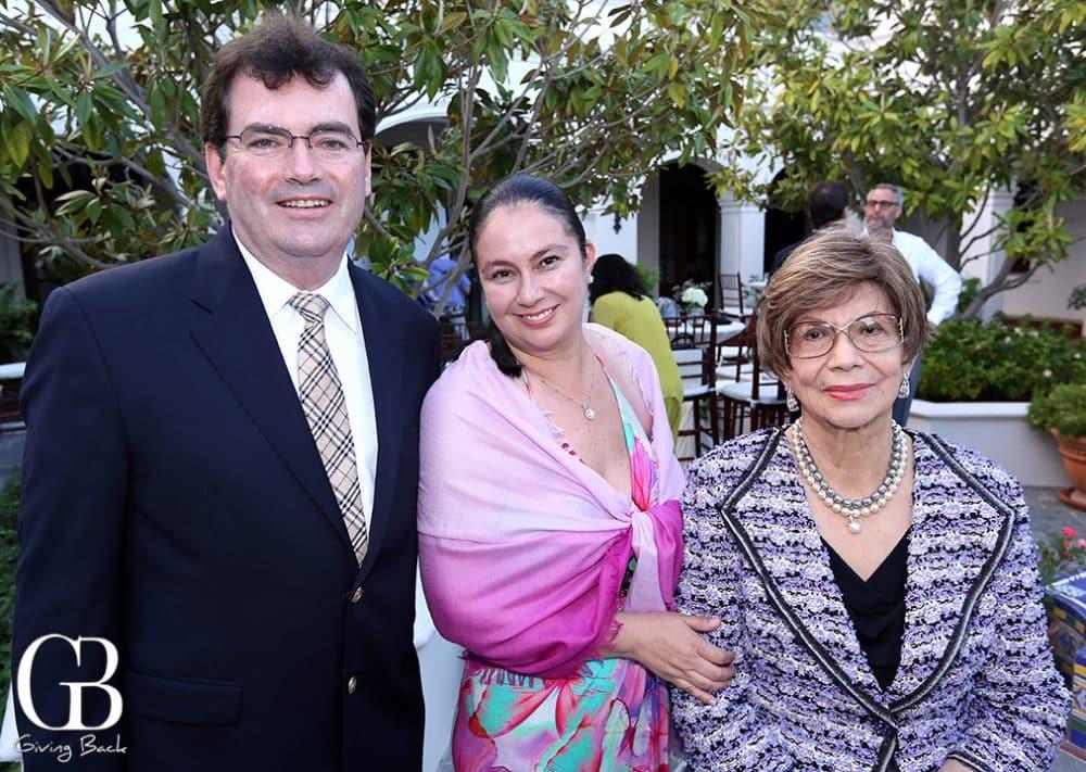 Gerard and Berenice Blake with Socorro Durazo