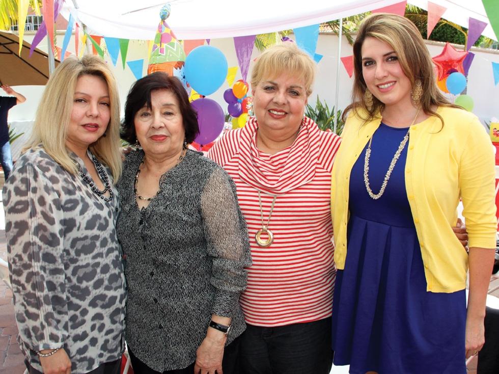 Gloria Smith Hourani, Alicia Smith, Celia Smith and Selena Caprio.JPG