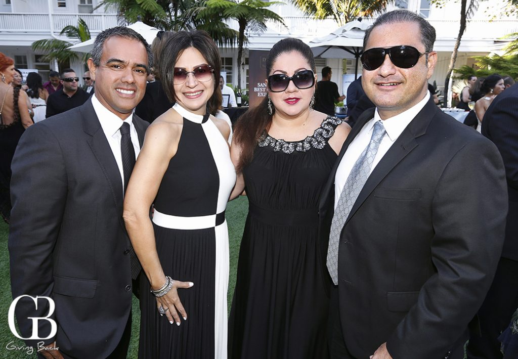 Gustavo and Claudia Perez with Monica and Luis Montano
