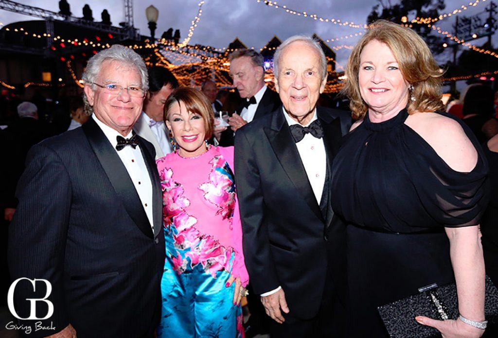 Harvey Ruben and Karen Fox with Conrad Prebys and Debbie Turner