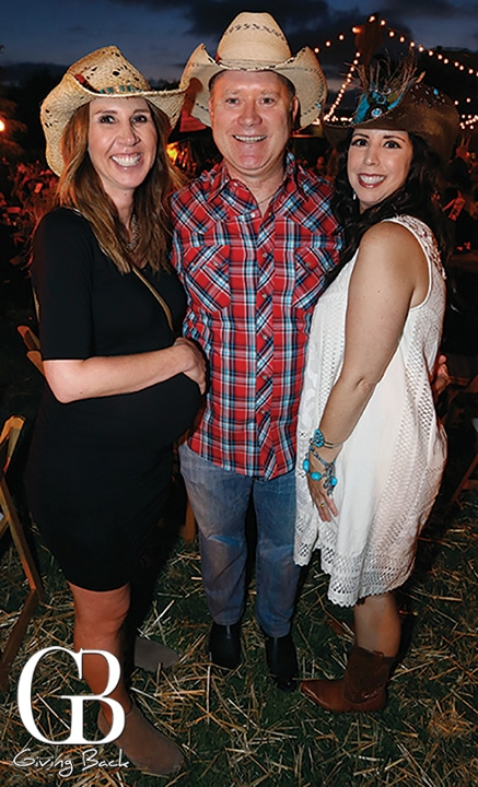 Heather and Kevin Dooley with Francesca Castagnola