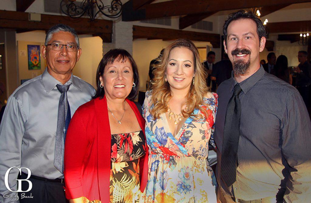Hector  Lydia and Lynda Salgado with Jessie Neild