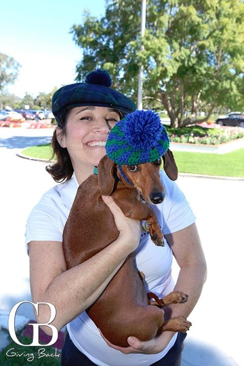 Heidi Arambula with Mr. Peabody