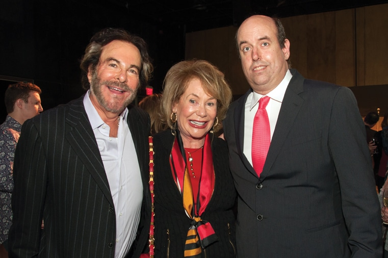 Howard and Barbara Milstein with Christopher Ashley