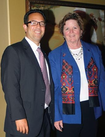Humberto Peraza and Mayor Cheryl Cox.JPG