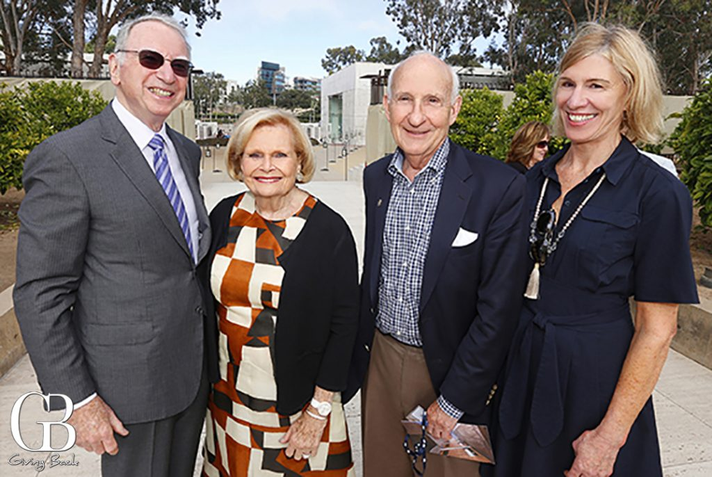 Irwin and Joan Jacobs with Ernest Rady and Kim Witmer