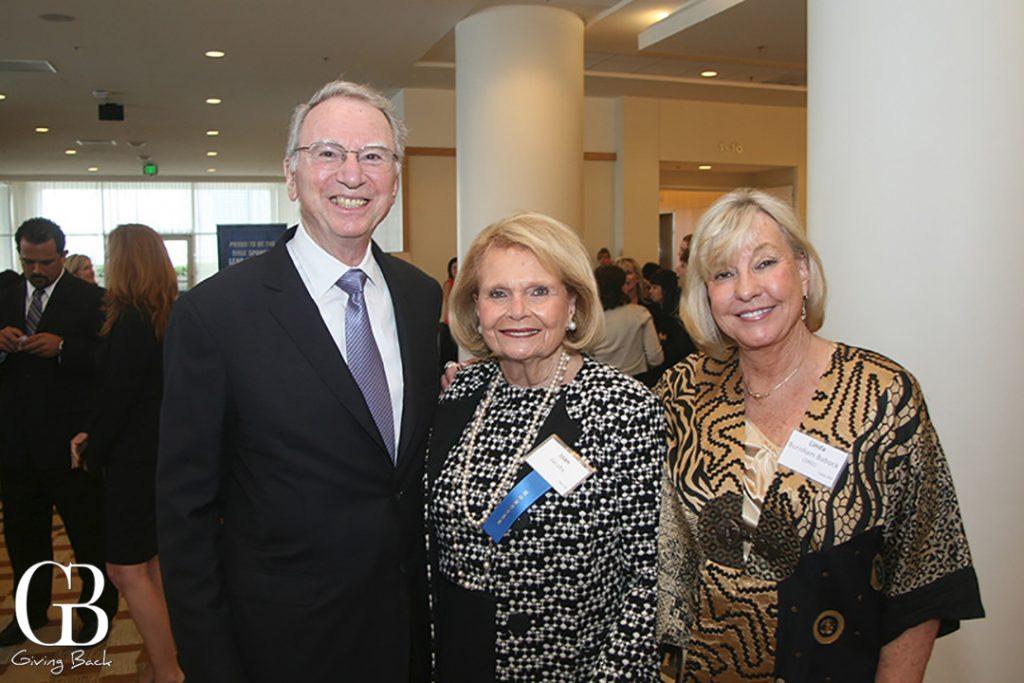 Irwin and Joan Jacobs with Linda Burnham Babock