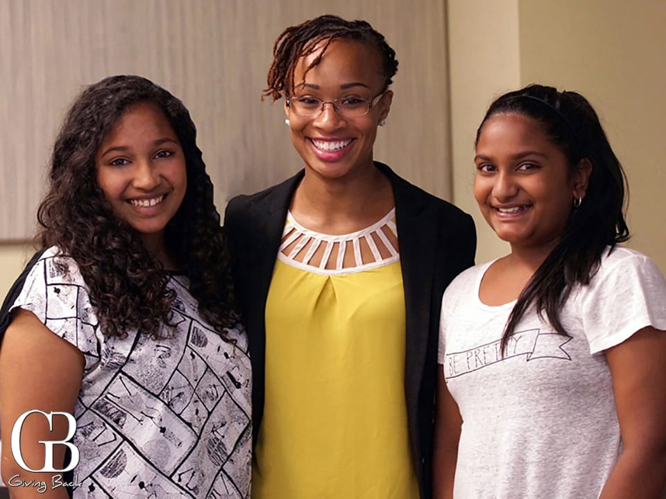 Jasmine Slater presented at the  Girls Mean S.T.E.M. workshop