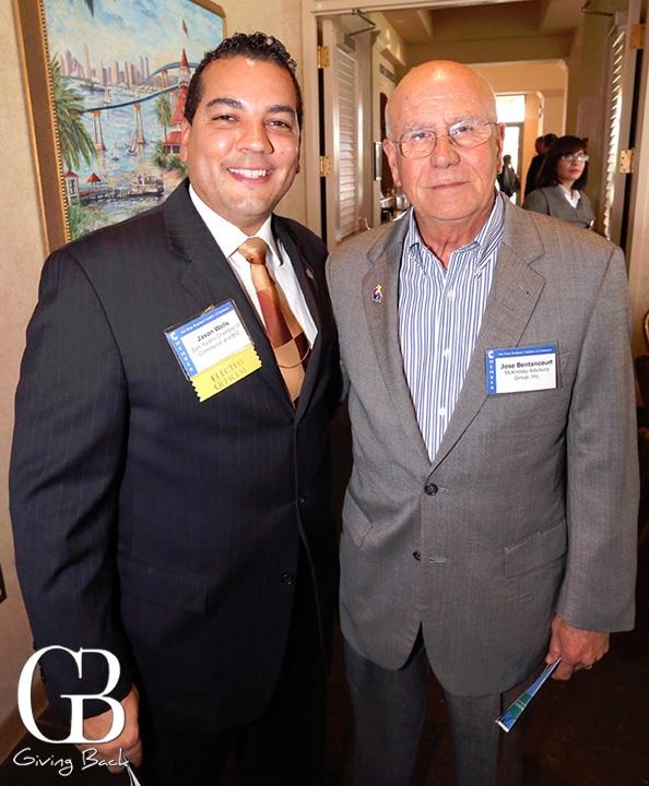 Jason Wells and Rear Adm. Jose Betancourt  Ret.