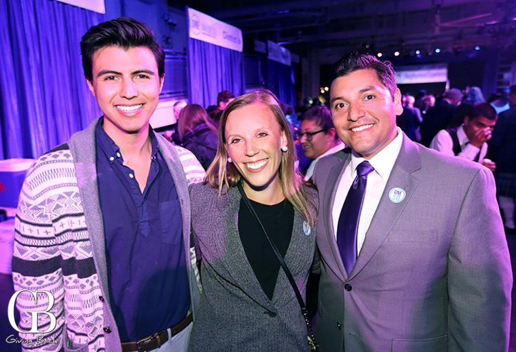 Javier Gomez with Amy and Anthony Bernal