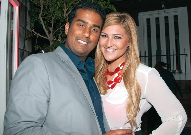 Jay Satpute and Candice Caster