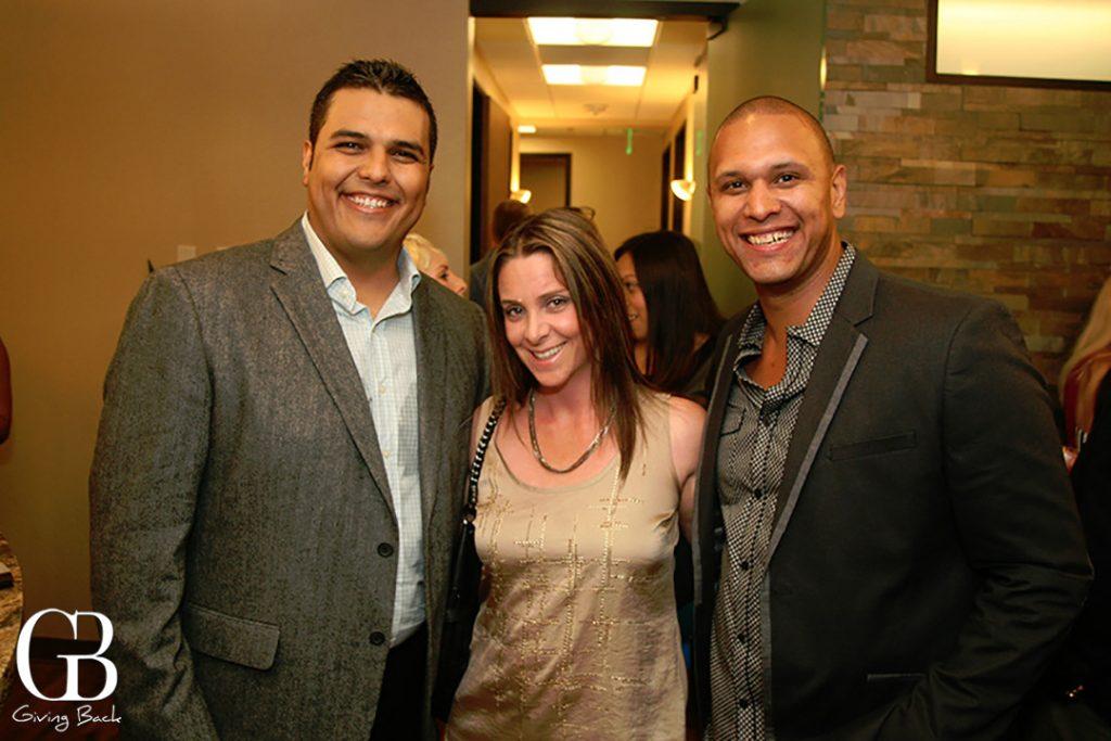Jesus Gonzalez with Jessica and Albert Clark
