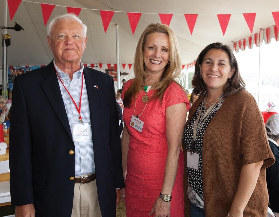 John Marshall, Jeariene Bacon and Tammi Marshall