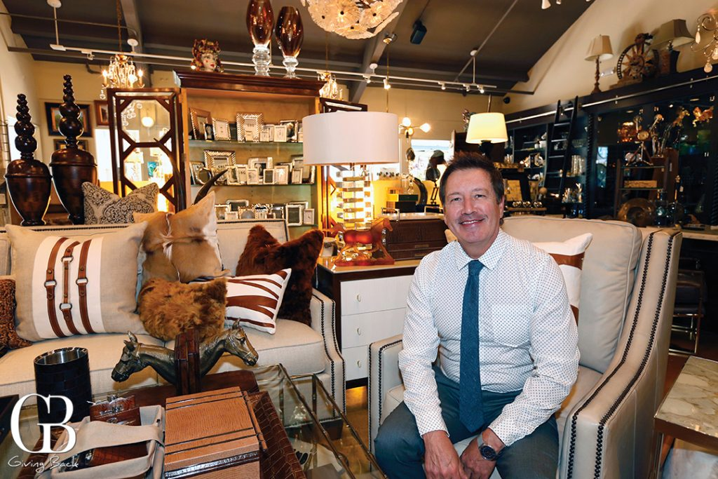 John Tomek in the Del Mar Store