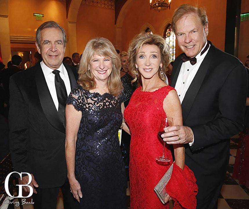 John and Susan Major with Patti Dahlgaard and John Renner