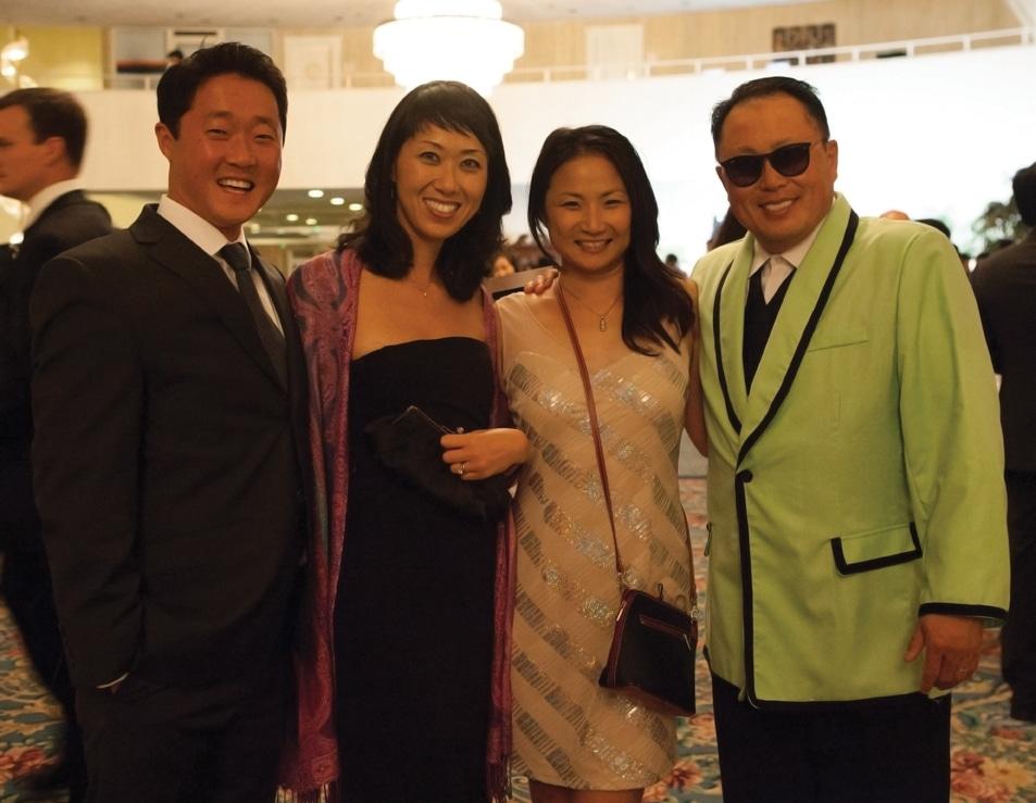 Jon and Kyung Pak with Judy and Benjamin Lee