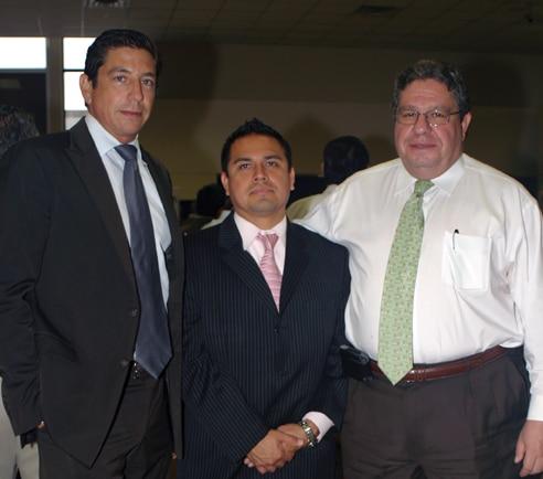 Jorge Saldarriaga, Alex Rodriguez and Isaac Modiano.JPG
