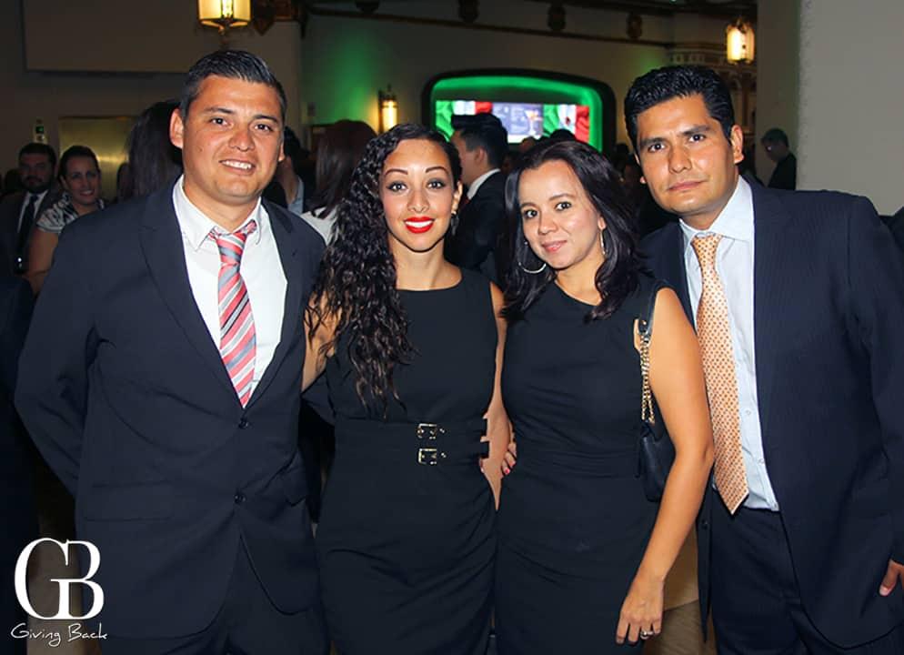Jose Angel and Carolina Lozano  Paulina Santin and Carlos Romero