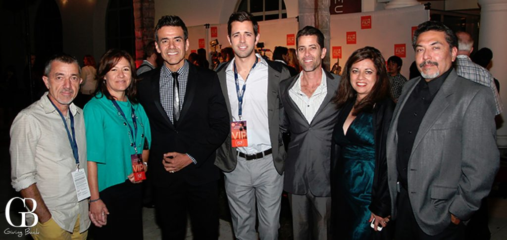 Jose Yenque with friends