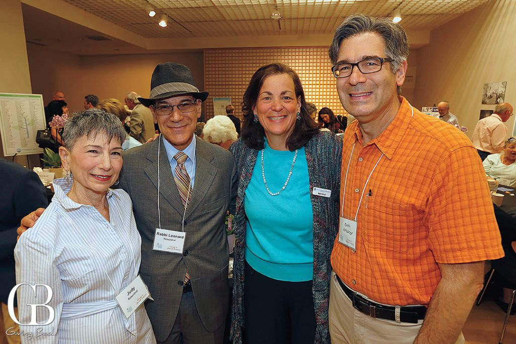 Judy Rosenthal  Rabbi Leonard Rosenthal  Beth Sirull and Seth Krosner