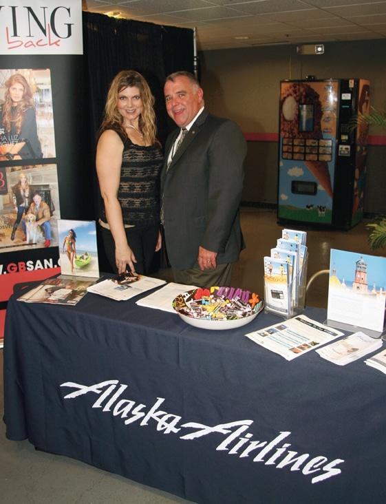 Julie Perez and Doag Clark from Alaska Airlines.JPG