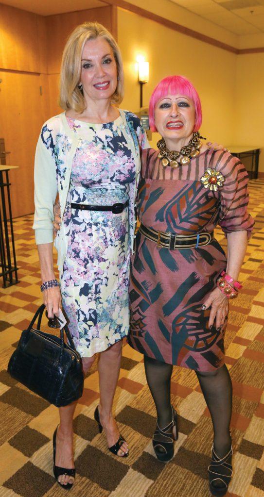 Karen Cohn and Zandra Rhodes.JPG