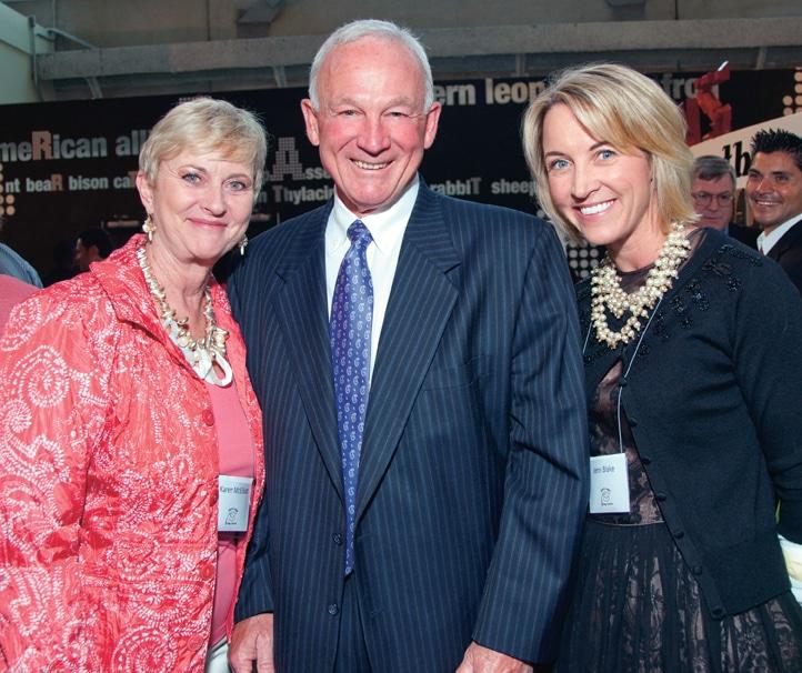 Karen McElliott, Mayor Jerry Sanders and Jenn Blake