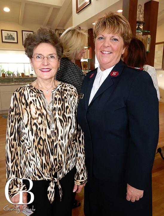 Karin Donaldson and Major Michele Lescano