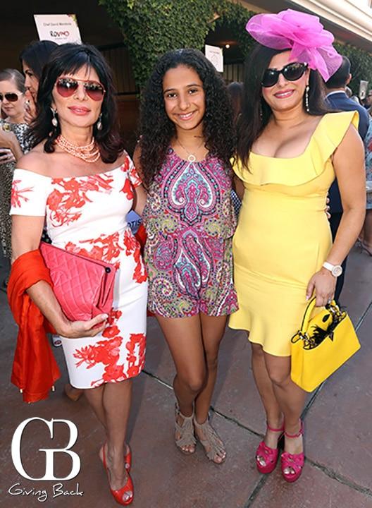 Katayoun Yazdani with Natalie and Marjan Daneshmand