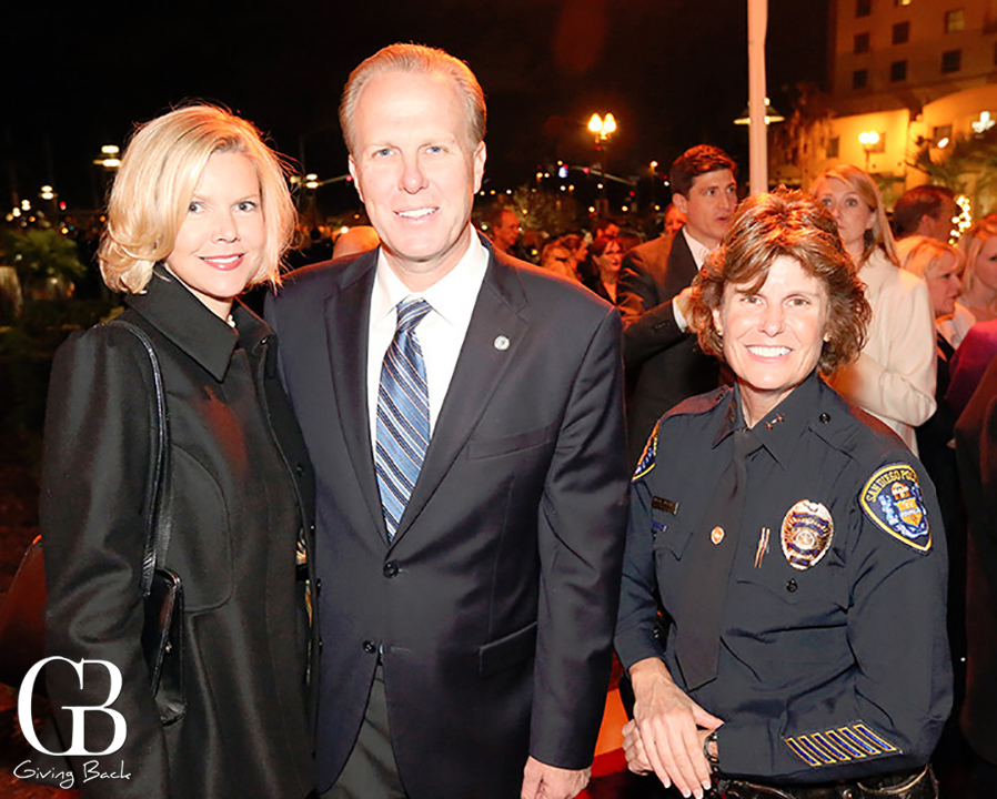 Katherine and Kevin Faulconer with Assistant Chief Shelly Zimmerman