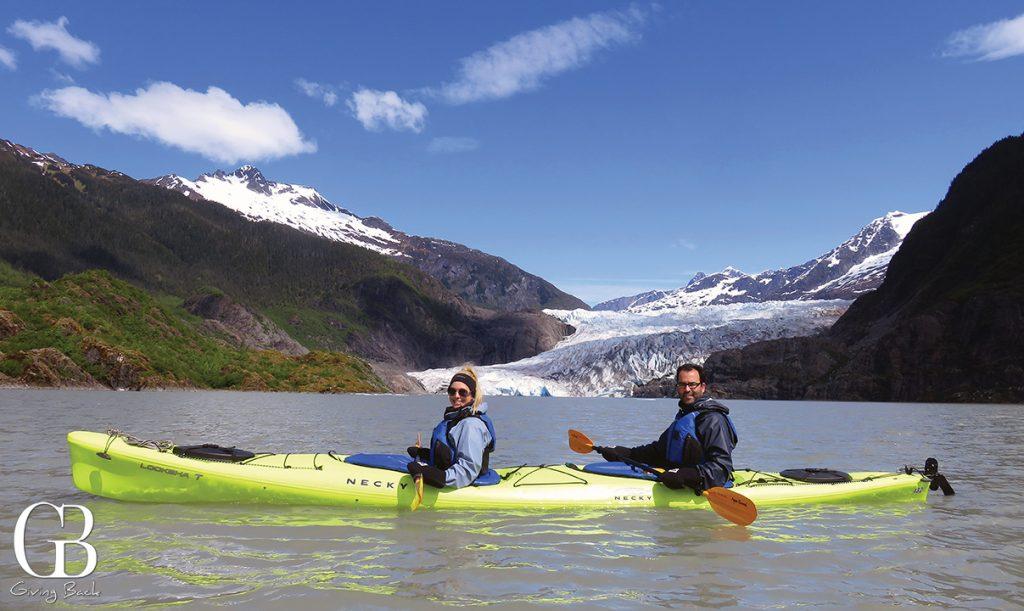 Kayaking to Mendenhall Glacier