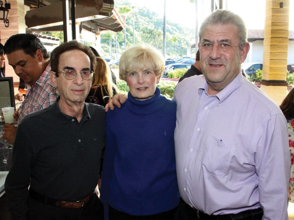 Kenneth and Paula Marks with Michael Fischer.JPG