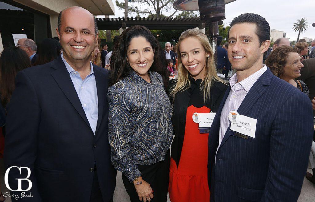 Kenny and Sandra Afshar with Anna and Gerardo Zamorano