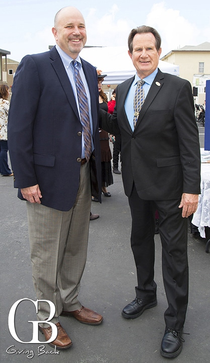 Kevin Mattson  and Mayor Ron Morrison