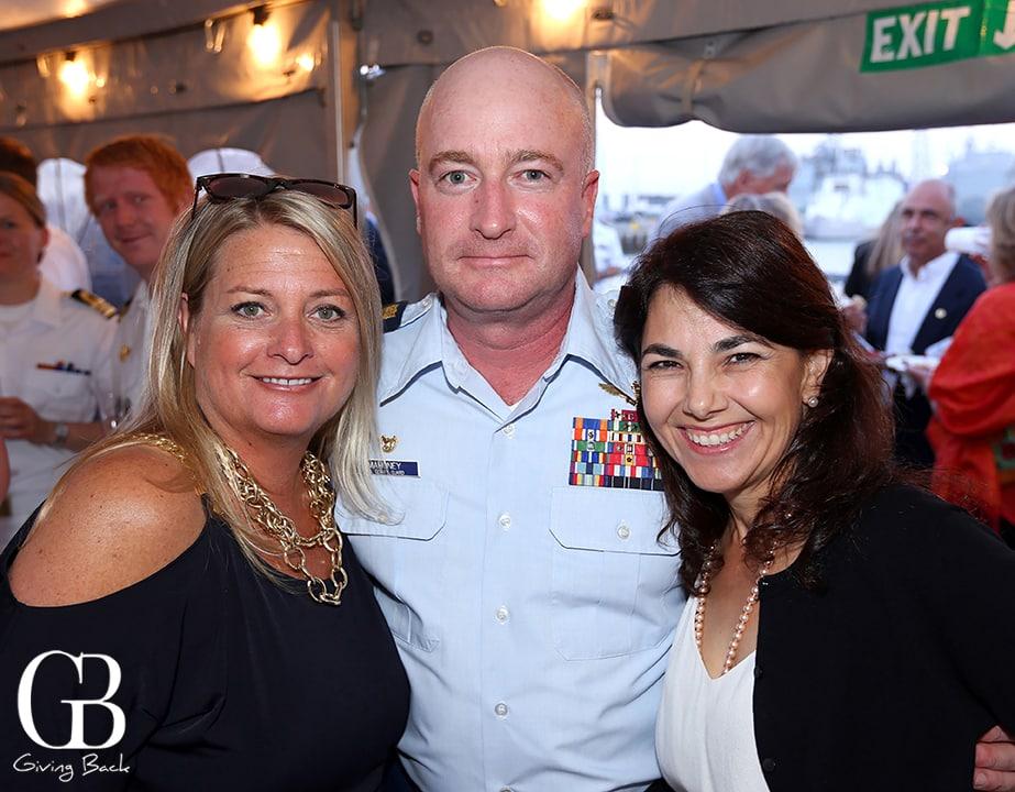 Kim Adams  Captain Sean Mahoney and Christine Mahoney