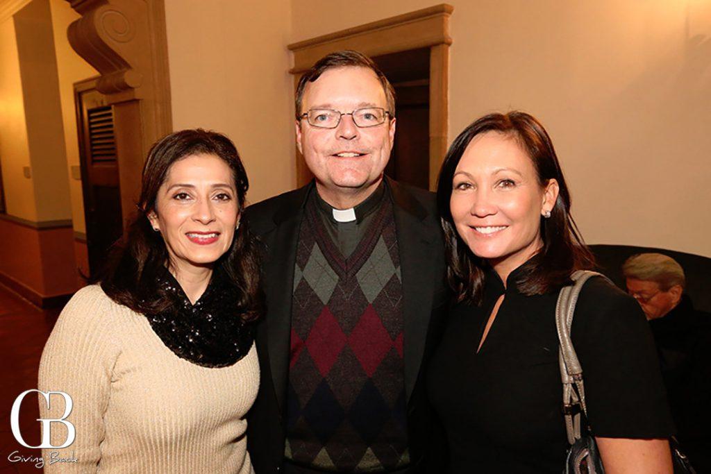 Laura Echeveria  Father Steve Callahan and Eileen Benjamin