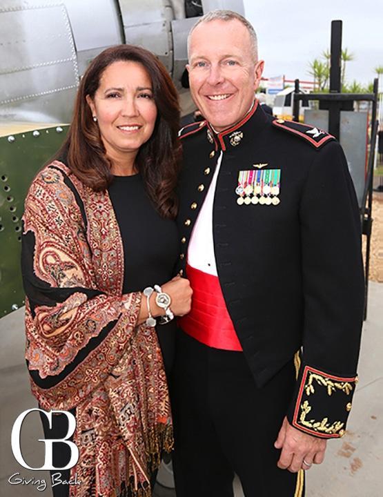 Leila Blair and Coronel Chad Blair