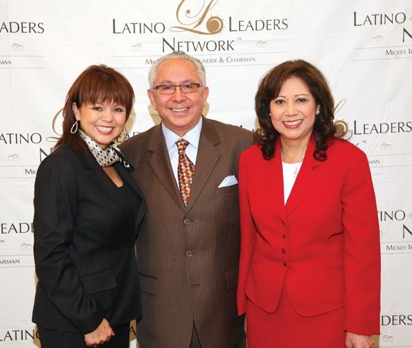 Lidia S. Martinez, Mickey Ibarra and U.S. Secretary of Labor Hilda Solis