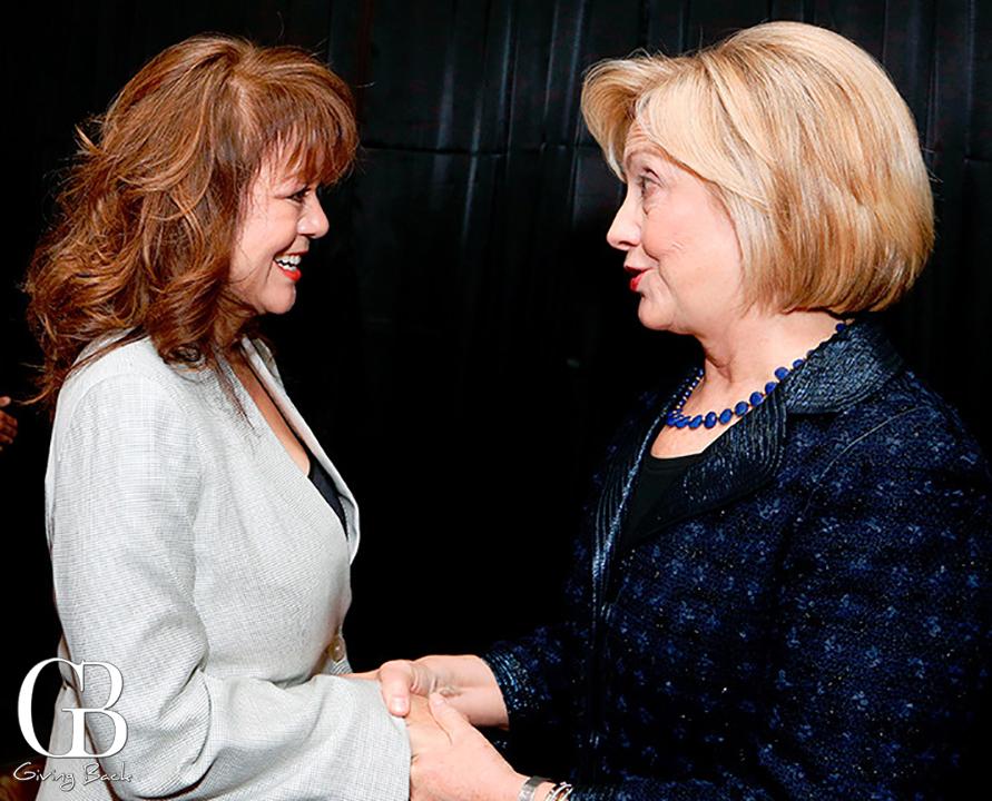 Lidia S. Martinez with Hillary Clinton
