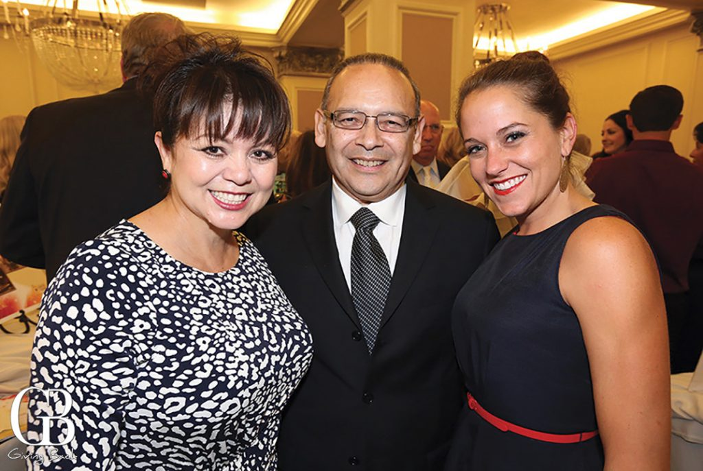 Lidia S. and Ted Martinez with Francine Miley