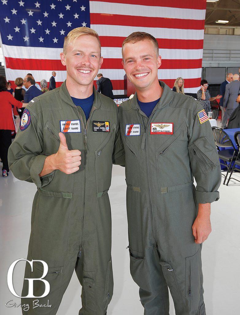 Lieutenant Junior Grade Zachary Farrell and Lieutenant Junior Grade Robert McConnel