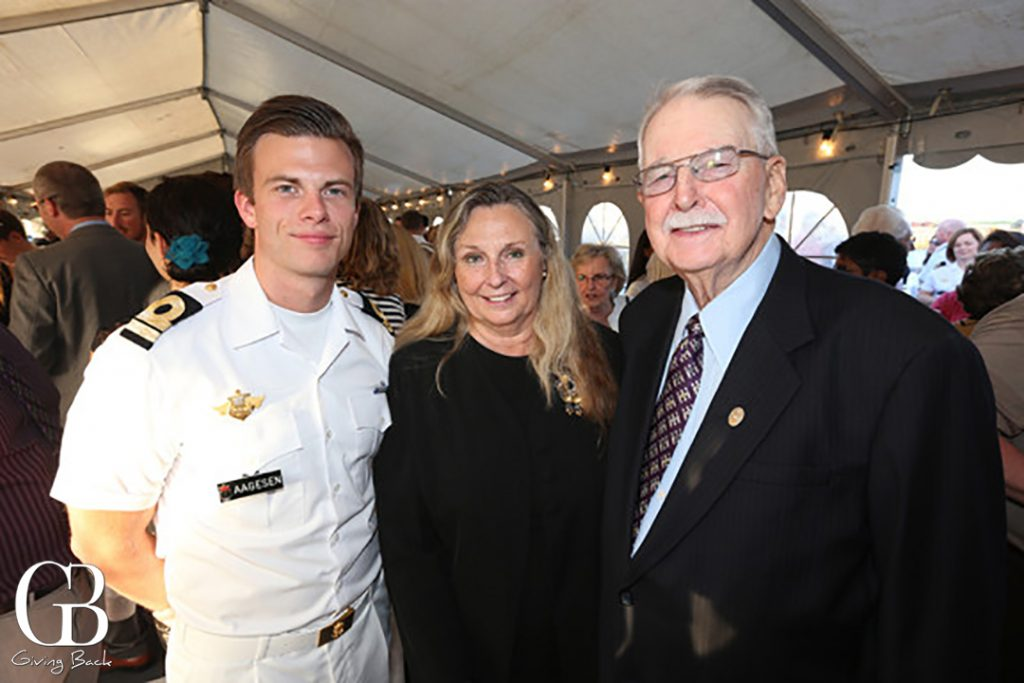 Lieutenant Lars Aagsen with Joy and Jim Cook