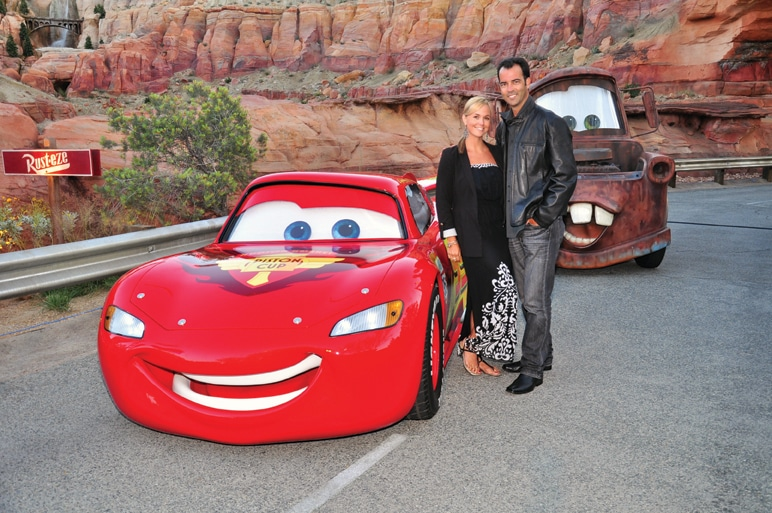 Lightning McQueen and Mater with Danitza and Esteban Villanueva