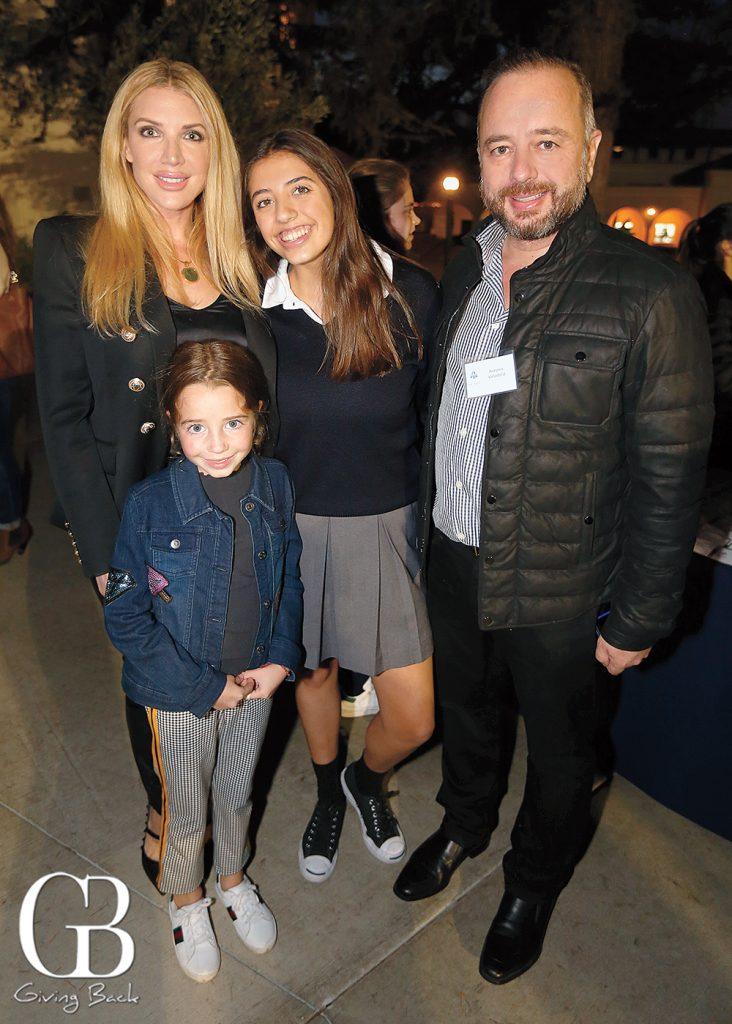 Lisa Meglioli  Victoria Rceslawski with Antonio and Sofia Valladolid