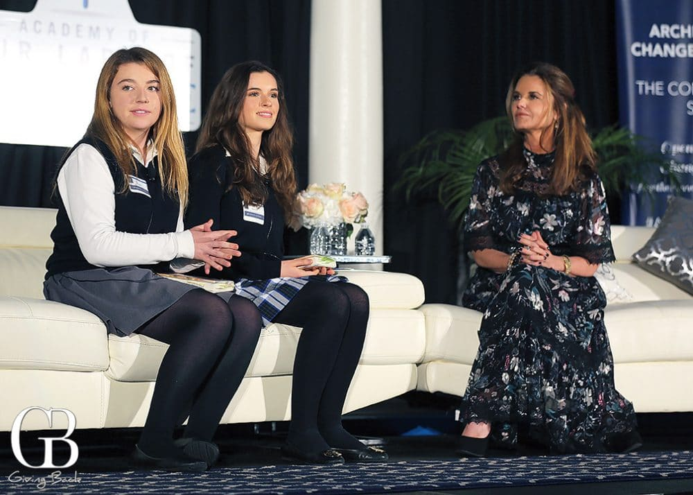 Maggie Brady and Marleen Vollvrechthause with Maria Shriver