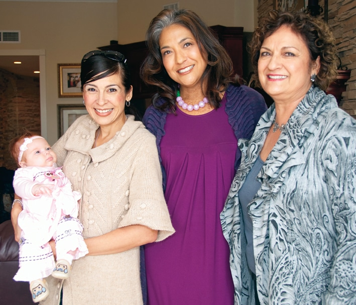 Maribel Compagnone, Lisa Rhodes and Rosa Castro